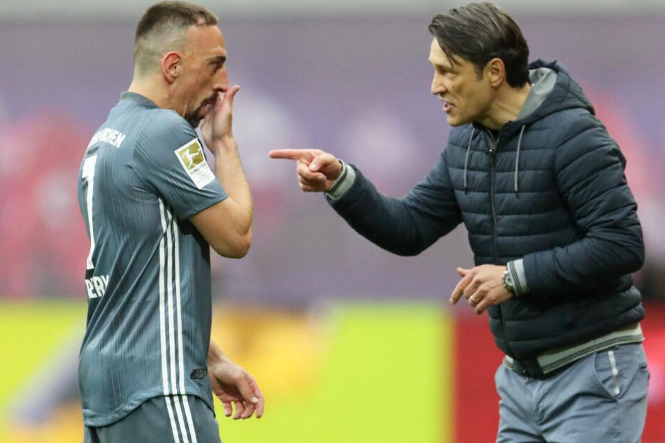 Niko Kovac (r.) konnte in dieser Saison noch auf Franck Ribéry (l.) zurückgreifen.