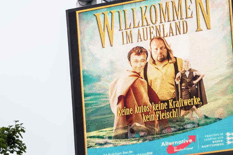 Sorgte über Wochen für Ärger: Werbung der AfD auf einer Videoleinwand in Stuttgart. Jetzt ist Schluss. (Archivfoto)