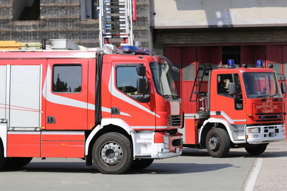 Die Feuerwehr beim Einsatz. (Symbolbild)