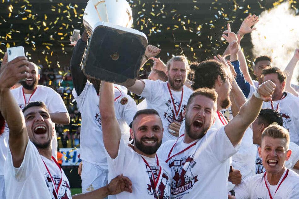 Der BFC Dynamo feierte im letzten Jahr den Gewinn des Berliner Pokals.