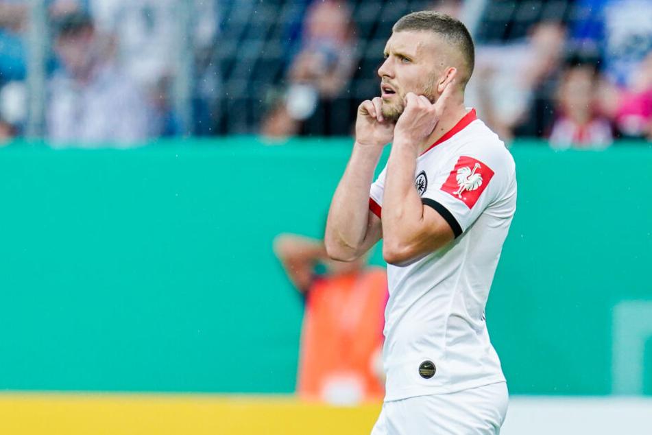 Viele Diskussionen gab es im Vorfeld der Partie um Eintracht-Stürmer Ante Rebic.