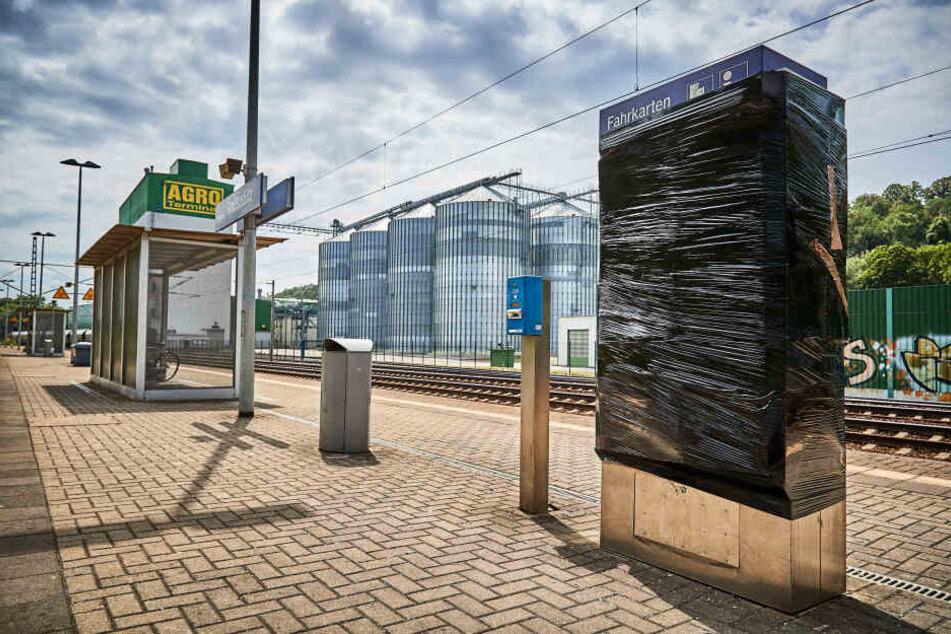 In Heidenau-Großsedlitz am Bahnsteig schlugen die Täter im Juni bereits das dritte Mal zu.