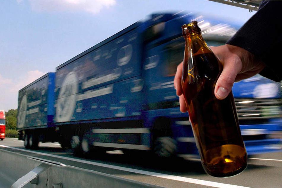 Der betrunkene Brummi-Fahrer stellte seinen Lkw einfach auf der dem Standstreifen ab.
