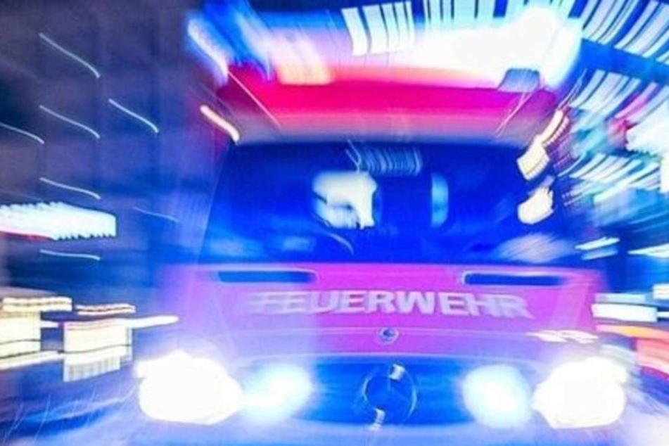 Ein Förderband in der Deponie fing plötzlich Feuer.