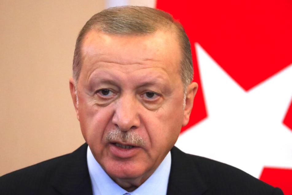 Recep Tayyip Erdogan, Staatspräsident der Türkei, führt in Nordsyrien Krieg gegen die YPG-Kurdenmilizen.