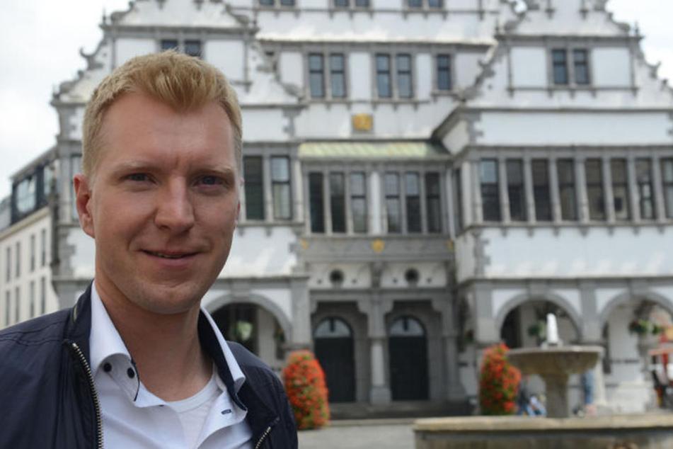 Nils Petrat (36) ist Domvikar in Paderborn und kümmert sich auch um die Studis in Paderborn.