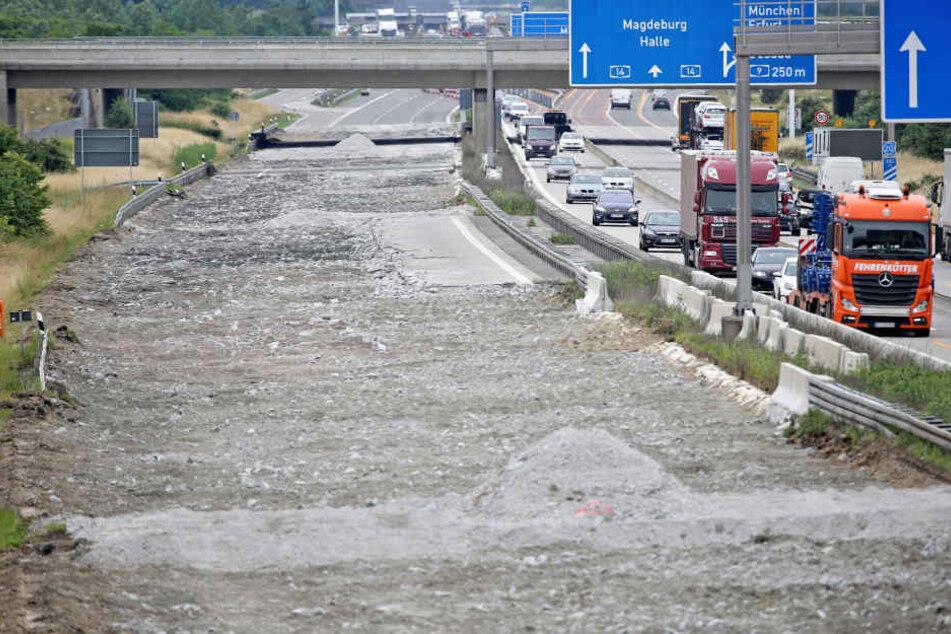 Auf der A14 von Dresden Richtung Magdeburg heißt es ab dem 24. April: Immer mit der Ruhe! (Symbolbild)