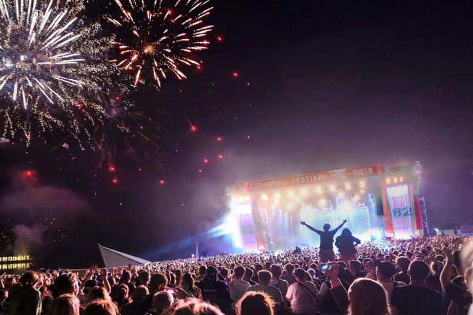 Feuerwerk und großer Knall: Beim Kosmonaut-Festival am Wochenende in Rabenstein hatten viele Fans auf einen anderen geheimen Headliner gewettet.