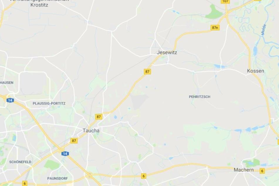 Der Unfall ereignete sich auf der B87 bei Taucha in Richtung Eilenburg.