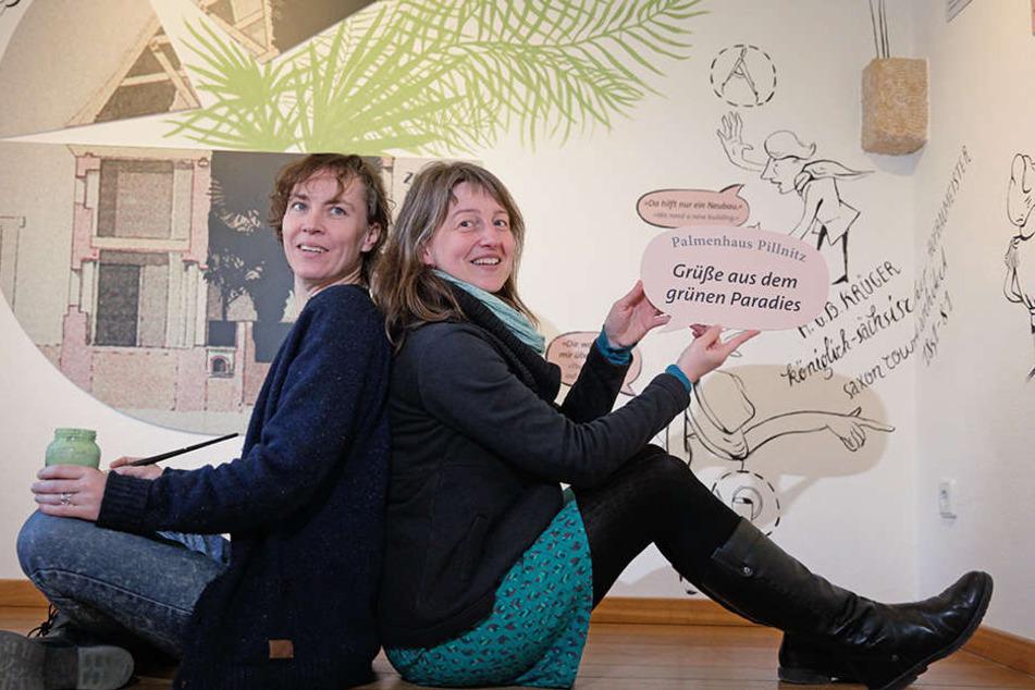 Illustratorin Anja Maria Eisen (44, l.) und Ausstellungsgestalterin Antje Werner.