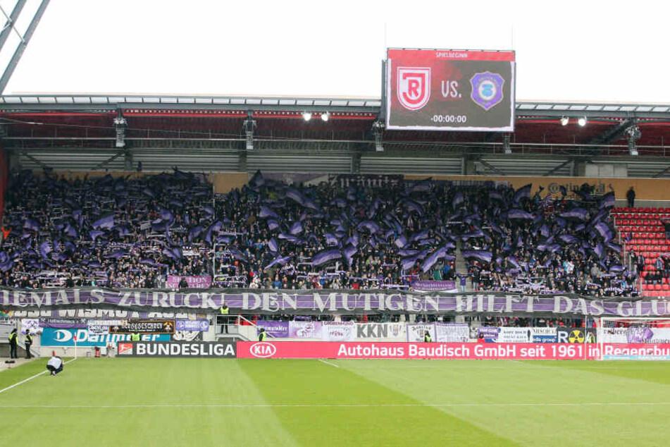 Mehr als 2000 Fans werden ihre Veilchen am Sonntag in der Regensburger Continental Arena unterstützen.