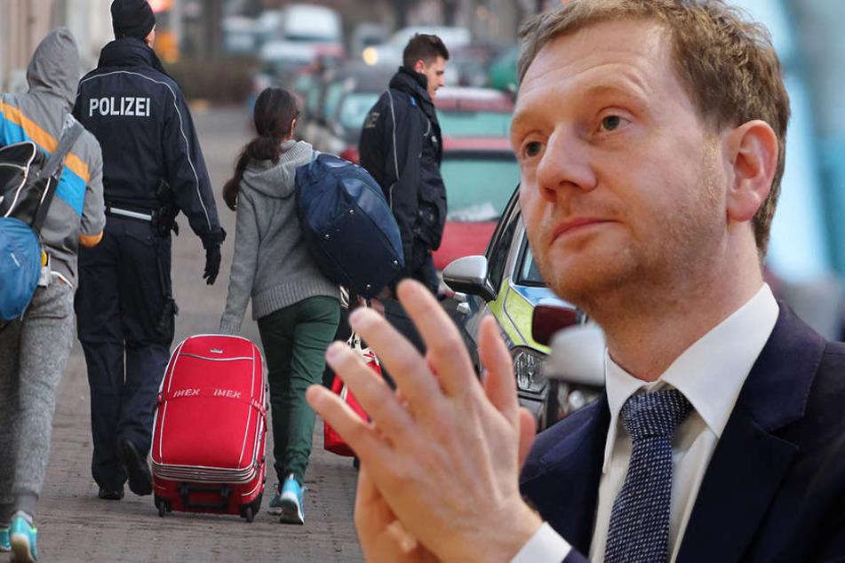 Sachsens Ministerpräsident ist für rasche Abschiebung und gegen Familiennachzug