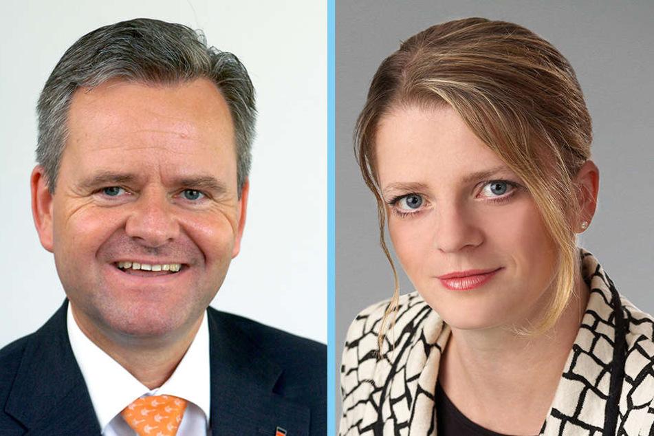 Eine Insolvenz ist für Tino Fritzsche (CDU) kein Thema, Susanne Schaper (Linke) fordert aber personelle Konsequenzen.