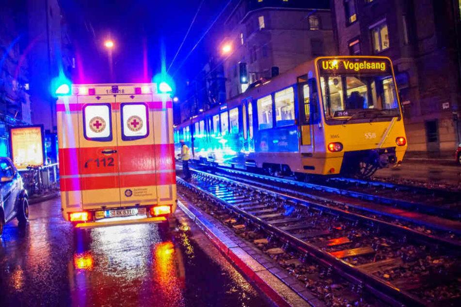 Der Stadtbahn-Verkehr in Richtung Vogelsang war nach dem Unfall bis etwa 17.50 Uhr unterbrochen.