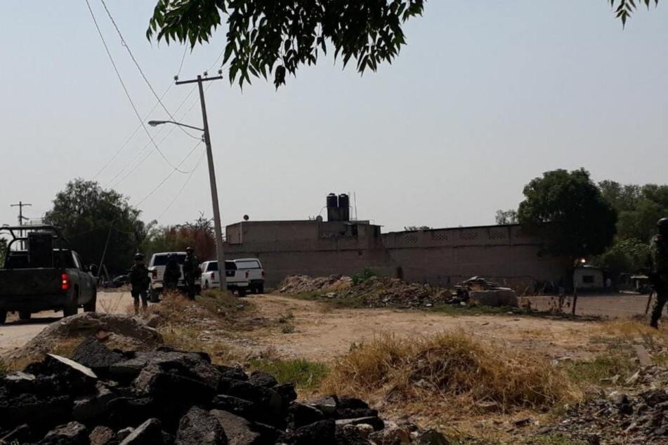 An diesem Ort entdeckten Sicherheitskräfte die Leichenteile.