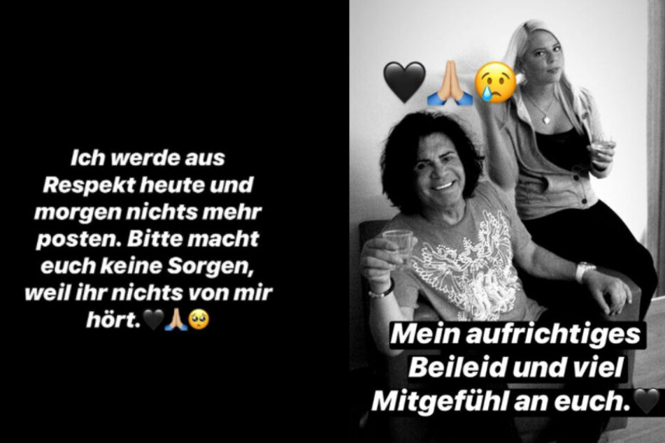Screenshots aus der Instagram-Story von Jenny Frankhauser. (Fotomontage)
