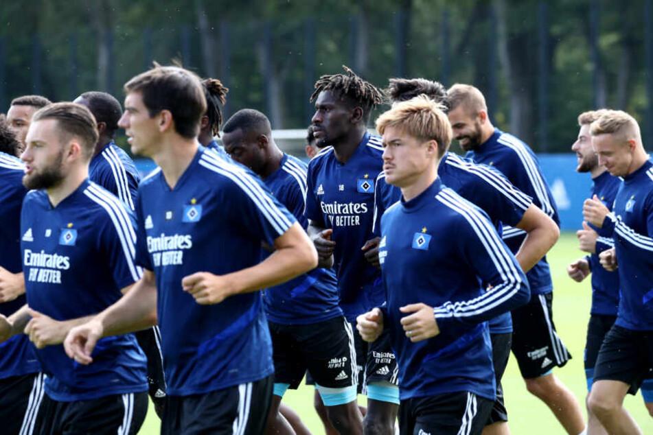 HSV-Spieler trainieren. (Archivbild)