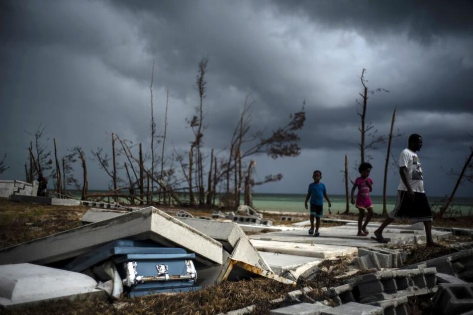 """Die Bahamas befinden sich nmitten der Aufräumarbeiten nach dem verheerenden Hurrikan """"Dorian""""."""