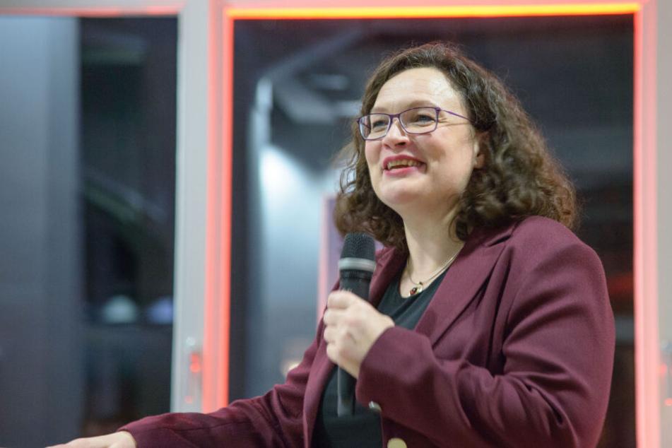 SPD-Chefin Nahles wirbt für Kulturhauptstadt Chemnitz