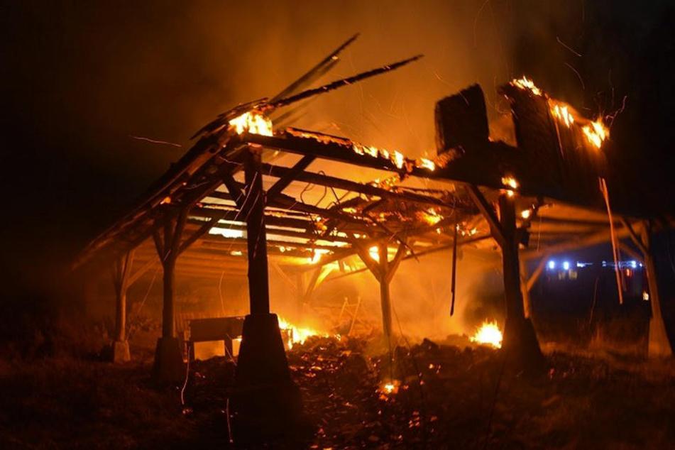 Eine Stunde lang mussten die Feuerwehrmänner das Feuer löschen.