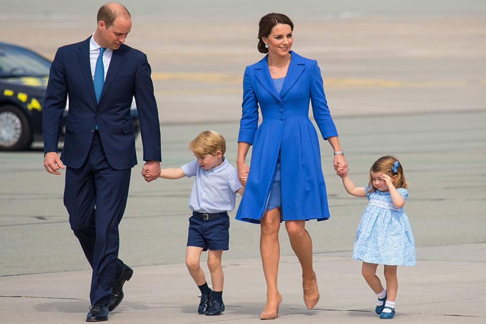 Prinz William, Herzogin Catherine und ihre Kinder Prinz George und Prinzessin Charlotte.