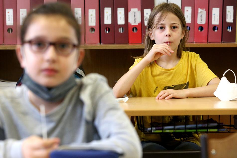 Mit dem Test sollen alle mehr als 730.000 Schülerinnen und Schüler der knapp 3800 Grund- und Förderschulen zwei Mal pro Woche auf das Coronavirus gecheckt werden.