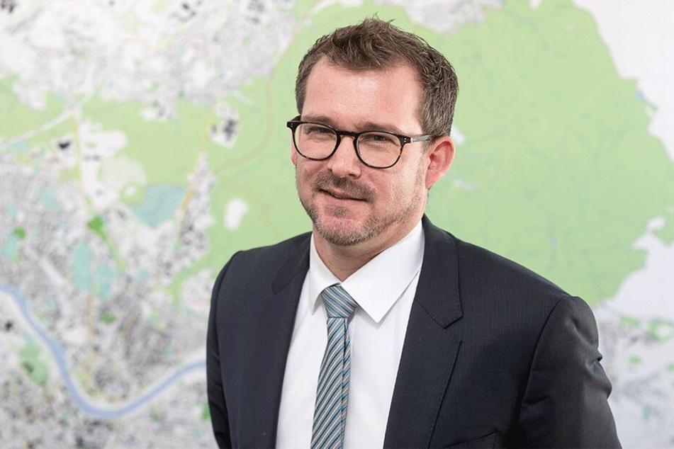 """Laut Baubürgermeister Raoul Schmidt-Lamontain (41, Grüne) ist die Bebauung des Königsufers ein """"wichtiges Zukunftsthema"""" - nun auch mit besten Aussichten auf Umsetzung."""