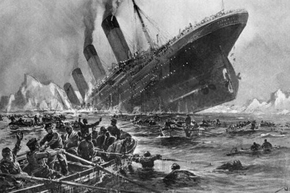 Mindestens 1500 Menschen kamen im eisigen Wasser des Atlantiks ums Leben.