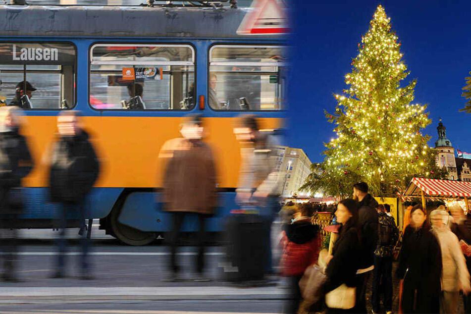 """Mit einer """"Maschinenpistole"""" fuhr ein 30-jähriger Mann in einer Leipziger Straßenbahn Richtung Weihnachtsmarkt."""