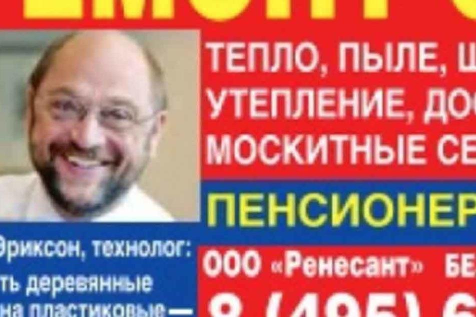 Ist das hier Martin Schulz, der für russische Fenster wirbt?