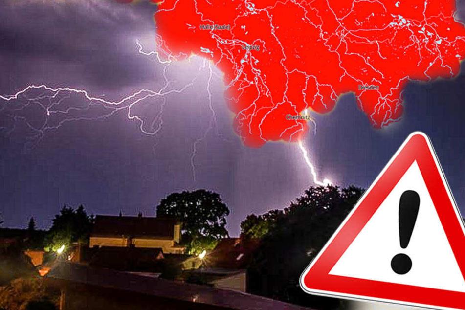 Sturm, Hagel, Starkregen: Auf Sachsen rollen heftige Unwetter zu