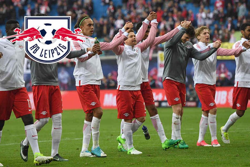 Die Spieler vom RB Leipzig wollen sich am Samstag wieder drei Punkte auf dem Weg zur direkten Champions League-Qualifikation sichern.