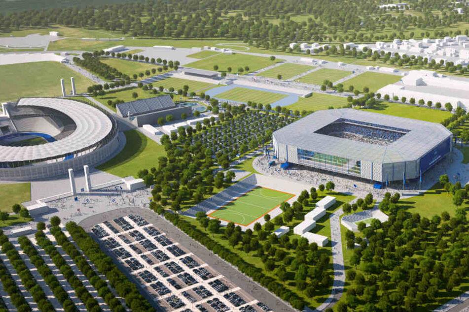 Hertha will das neue Stadion im Olympia-Park bauen lassen.