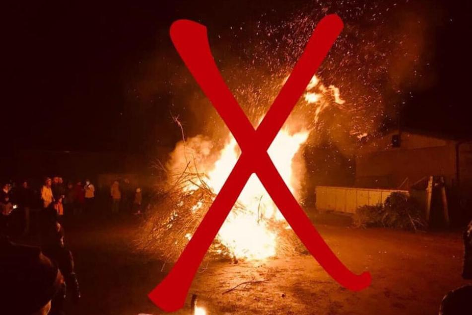 Kein traditionelles Baum-Brennen mehr! Statt großem Feuer gibt's im neuen Jahr Bäume-Schreddern bei der Freiwilligen Feuer Auerswalde.