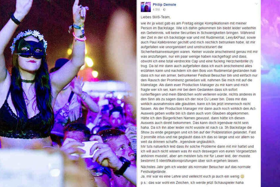 Mit diesem Facebook-Post brachte er viele zum Lachen. Danach ist den Veranstaltern wohl weniger zumute.