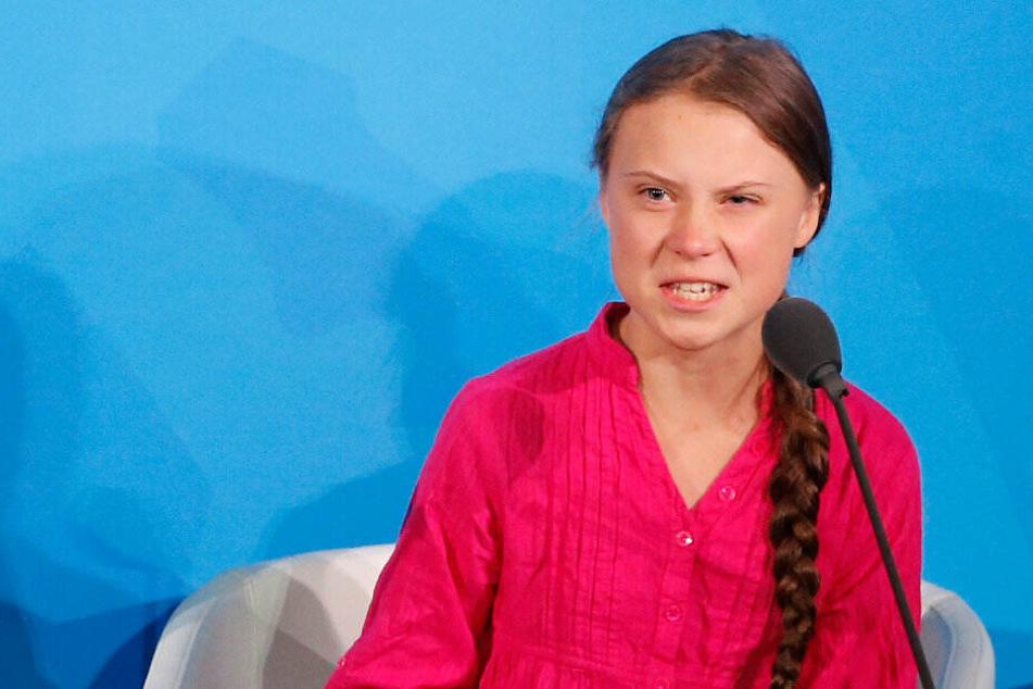 Greta Thunberg beim UN-Klimagipfel in New York.