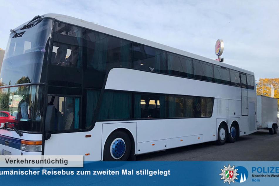 Seit 2017 stillgelegt: Polizei zieht rumänischen Bus aus dem Verkehr