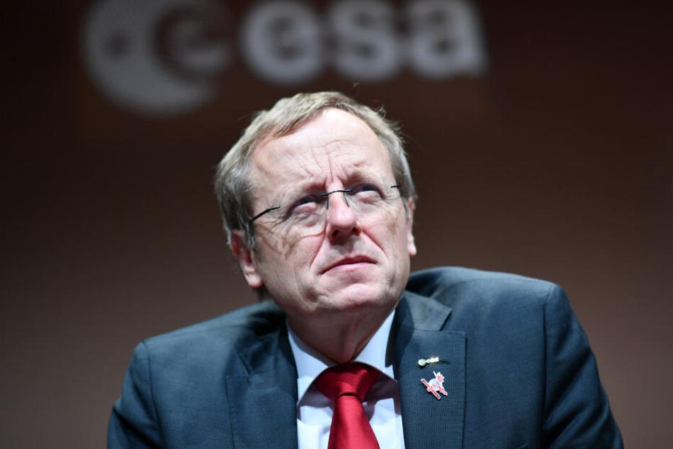 Esa-Generaldirektor Jan Wörner wahrnte vor Gefahren aus dem Weltraum.