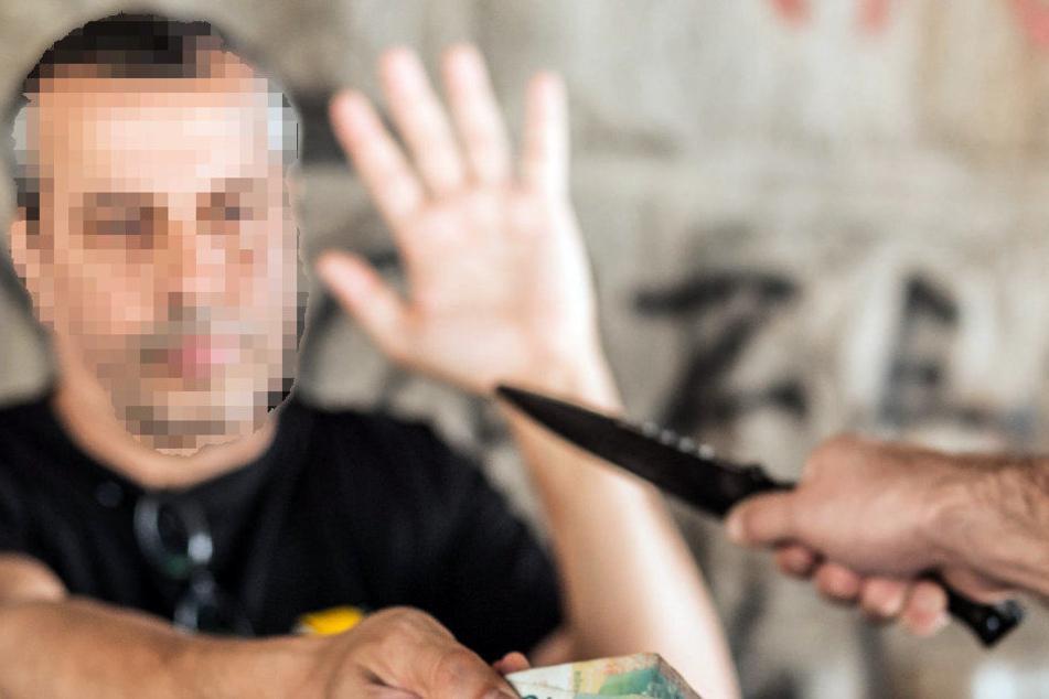 Mit einem Messer wurde der 26-Jährige bedroht. (Symbolbild)
