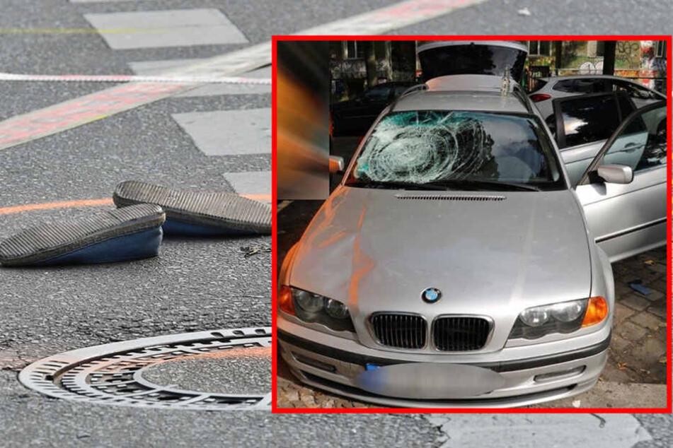 Mit diesem BMW wurden die Frau und ihre Tochter angefahren und schwer verletzt.