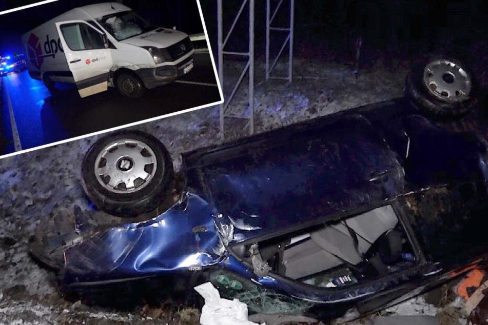 Wegen Glätte: Mehrere Unfälle in Sachsen-Anhalt