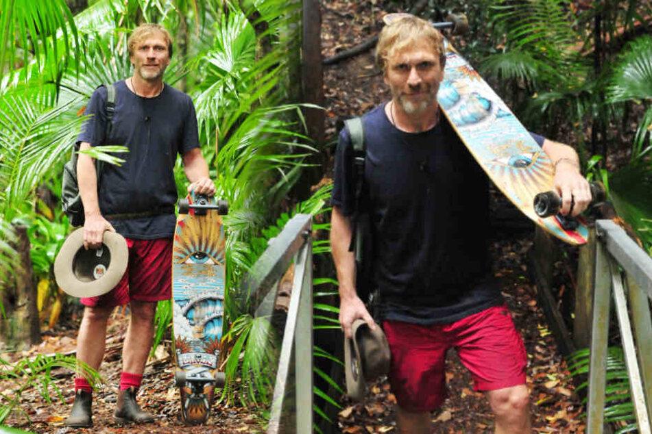 Mit seinem Longboard verließ Ansgar Brinkmann das Dschungelcamp.