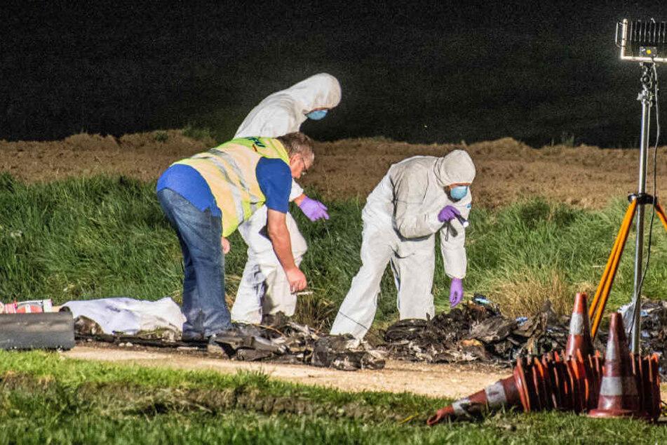 Der Unfallort wurde in einem Bereich von mehreren hundert Metern abgesucht.