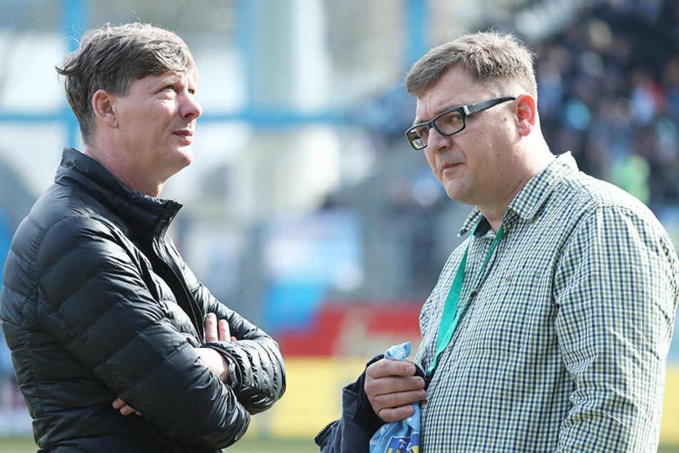 Besorgte Gesichter bei den CFC-Bossen Uwe Bauch (l.) und Thomas Uhlig.