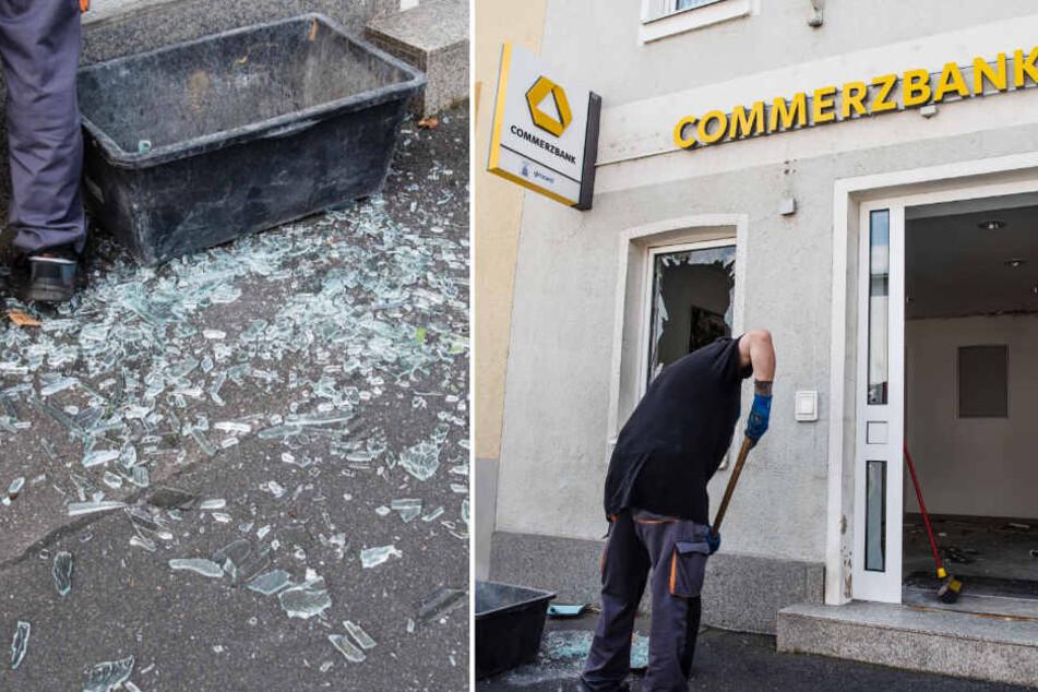 Ein Geldautomat wird gesprengt, die Flucht der Ganoven ist unglaublich
