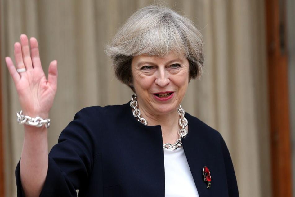 Die britische Premierministerin Theresa May (60).