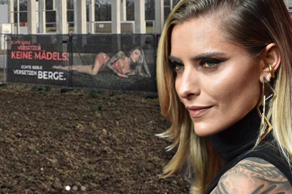 Diebe klauen ihr sexy Bauschutt-Banner: Sophia Thomalla macht Hammer-Angebot