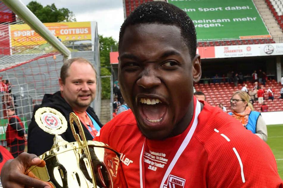 Mit dem FCE hat Mamba den Brandenburger Landespokal gewonnen.