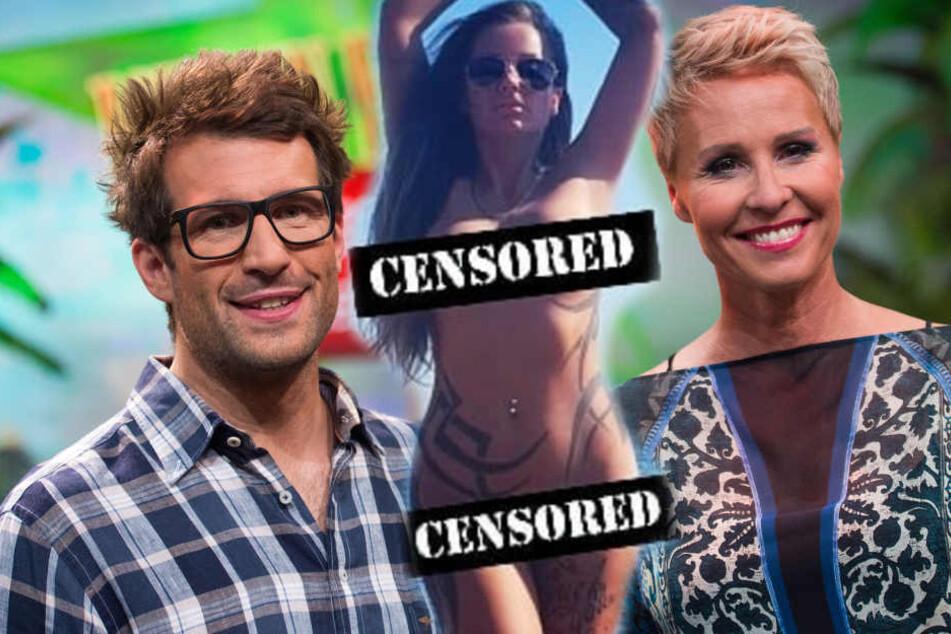 Fotomontage: Einer Teilnahme am RTL-Dschungelcamp, das von Daniel Hartwich (Li.) und Sonja Zietlow (Re.) moderiert wird, scheint Ewa nicht gänzlich abgeneigt zu sein.