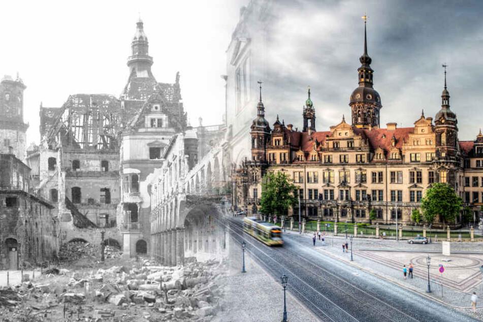 Das Schloss fiel den Bomben zu weiten Teilen zum Opfer. Heute steht es wieder fast komplett.